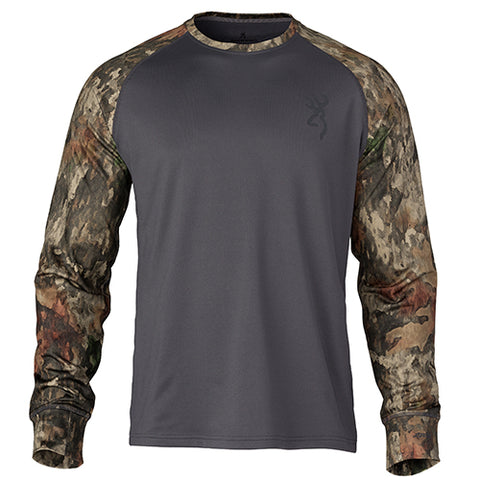 Browning Hell's Canyon Speed MHS-Riser Long Sleeve Base Layer Shirt A-TACS TD-X Medium