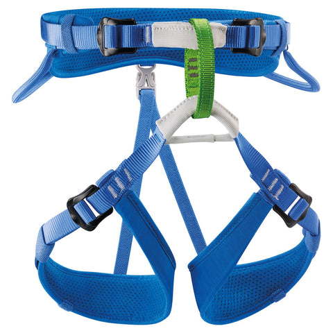 Petzl MACCHU Kid's Rock Climbing Harness Blue