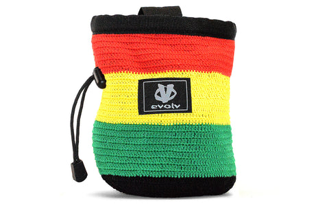Evolv Rasta Knit Rock Climbing Chalk Bag