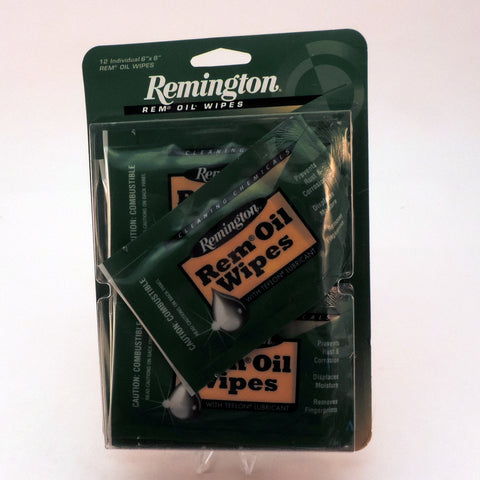 Remington Rem Oil Individually Wrapped Wipes -12 Pack 18411