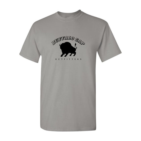 Buffalo Gap Outfitters Logo Front Heavyweight Cotton Adult T-Shirt Gravel