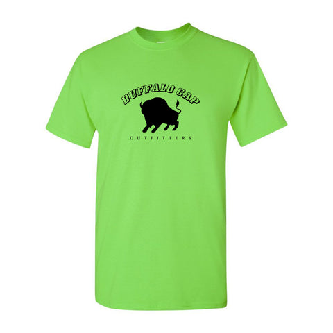 Buffalo Gap Outfitters Logo Front Heavyweight Cotton Adult T-Shirt Lime
