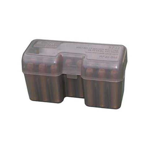 MTM Case-Gard 22 Round Flip top Ammo Box Smoke RF22-SM-41