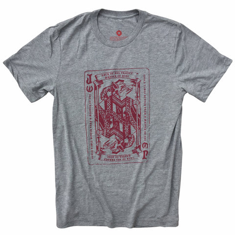 "Lucky Streak Clothing Men's ""Jack of all Trades"" T-Shirt Heather Grey"
