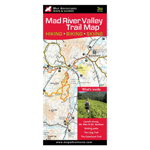 Map Adventures Valley Of Mad Rivr Snowshoe Tr