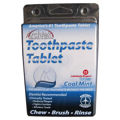 Archtek Toothpaste Tablet Cool Mint Flavor 15 Count Pack