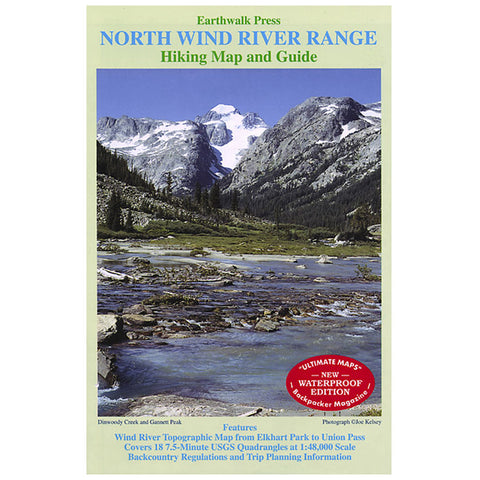 Earthwalk Press North Wind River Range Map Gd