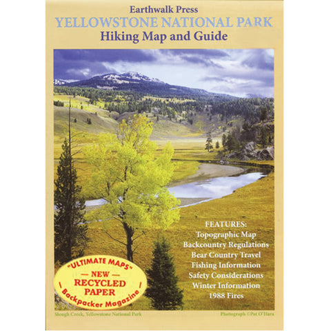 Earthwalk Press Yellowstone Np Map Recycld Ppr