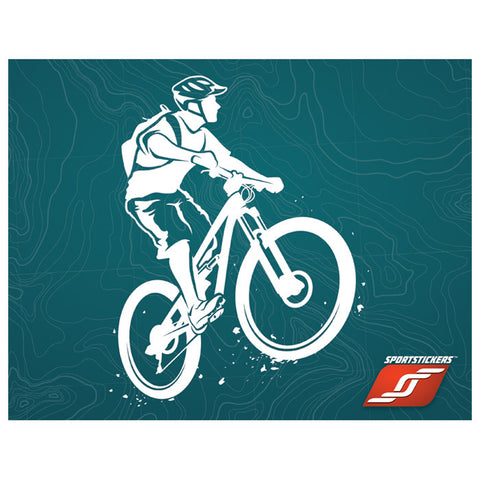 Sportstickers Mountain Biker Male White