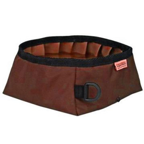 Equinox Buddy's Travel Dog Bowl Burgundy