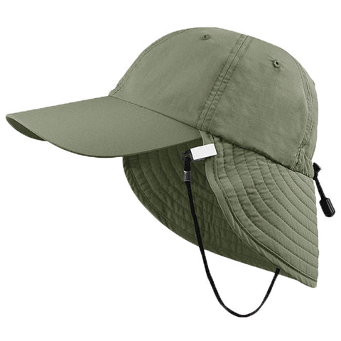 Juniper UV Bucket Hat W/Flap Olive Osf
