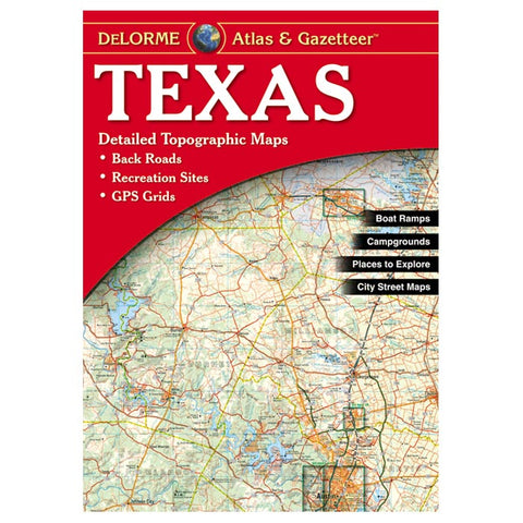Delorme Texas Topographical Road Atlas & Gazetteer