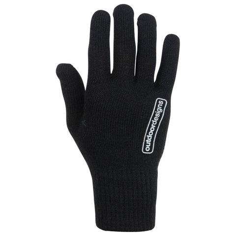 Outdoor Designs Stretch Wool Grip Black Gloves