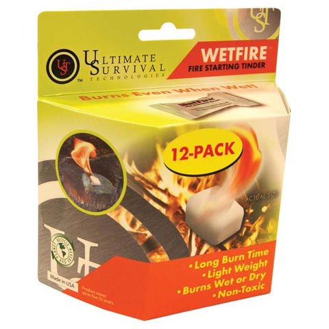 Ultimate Survival Technologies UST Wetfire Tinder 12-Pack