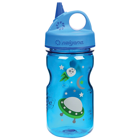 Nalgene Grip-N-Gulp Children's Water Bottle Blue with Space