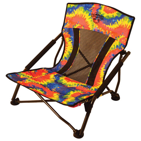Crazy Creek Crazy Legs Quad Beach Tie Dye Folding Chair