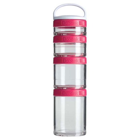 BlenderBottle GoStak Portable Stackable Containers Starter 4 Pack Assorted Colors