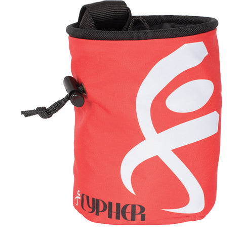 Cypher Rock Climbing Chalk Bag - Logo Red