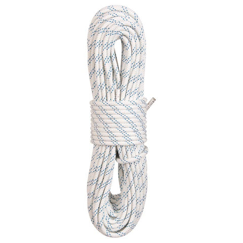 "New England Ropes KM III 5/16"" X 200' White Static Climbing Rope"