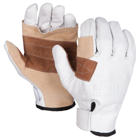 Liberty Mountain Pro Rappel Gloves Goat Skin Md