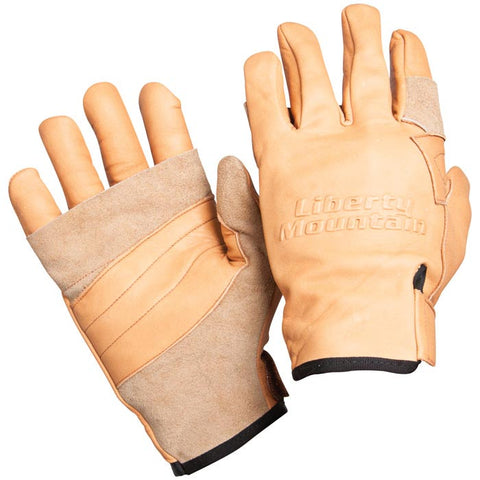 Liberty Mountain Pro Rappel Gloves Cowhide Lg