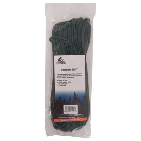 Liberty Mountain Paracord 50 Ft Hunter Green