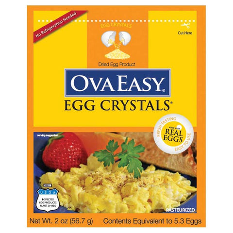 Ovaeasy Whole Egg Crystals 2 oz Pouch (5 Egg Equivalent)