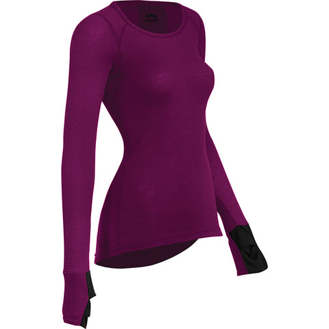 Coldpruf Zephyr Women's Crew Top Plum Large