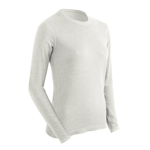 Coldpruf Base Layer Basic Women's Crew Top White Large
