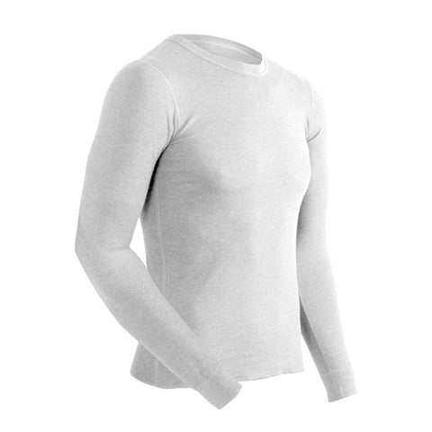 Coldpruf Base Layer Basic Men Crew Top White Large