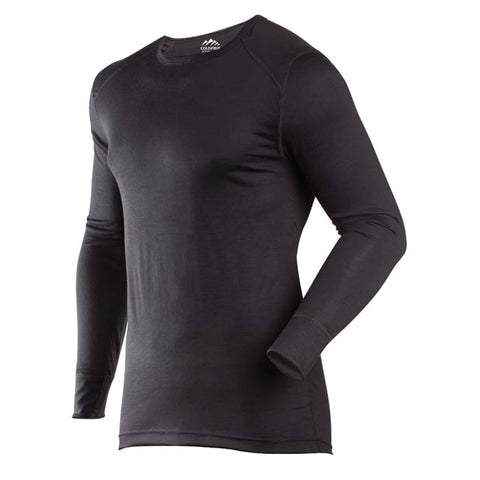 Coldpruf Base Layer Classic Merino Men Crew Top Black X-Large