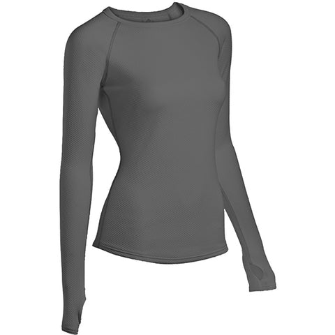 Coldpruf Honeycomb Women's Crew Top Grey Small
