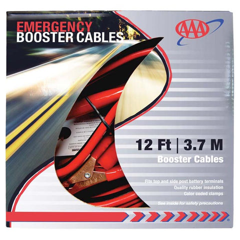 AAA 12 Foot 8 Gauge Booster Jumper Cables
