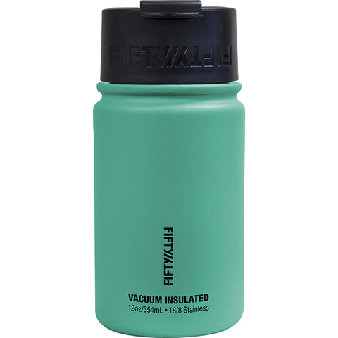 Fifty/Fifty 12 oz Vacuum Insulated Flip Top Water Bottle Aqua