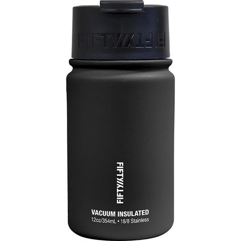 Fifty/Fifty 12 oz Vacuum Insulated Flip Top Water Bottle Black