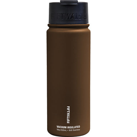 Fifty/Fifty 18 oz Vacuum Insulated Flip Top Water Bottle Mocha