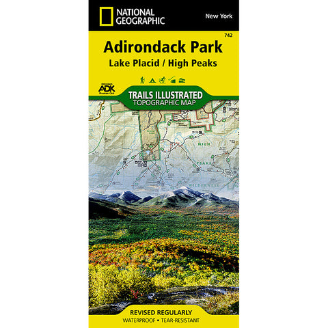 National Geographic Adirondack Pk/Lake Placid #742