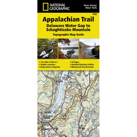 National Geographic Appalachian Trail Delaware Water Gap to Schaghticoke NJ/NY