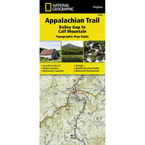 National Geographic Appalachian Trail- Calf Mountain Va 1504