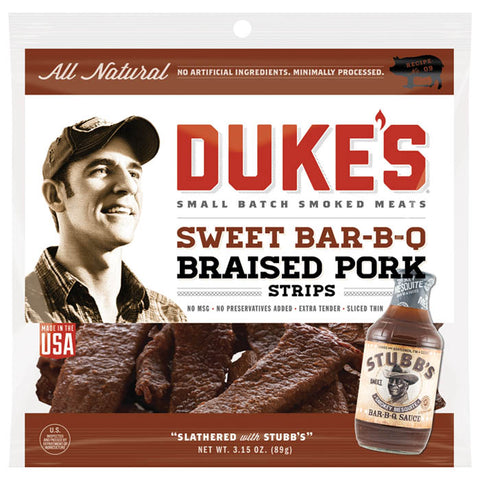 Duke's Stubb's Sweet Bar-B-Q Braised Beef Strips Jerky
