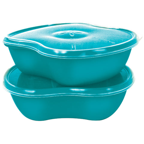 Preserve Sq Container 2 Pack Aqua