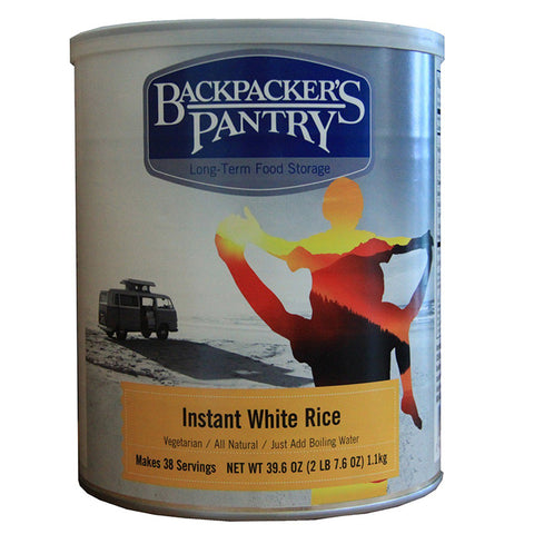Backpackers Pantry Instant White Rice Can