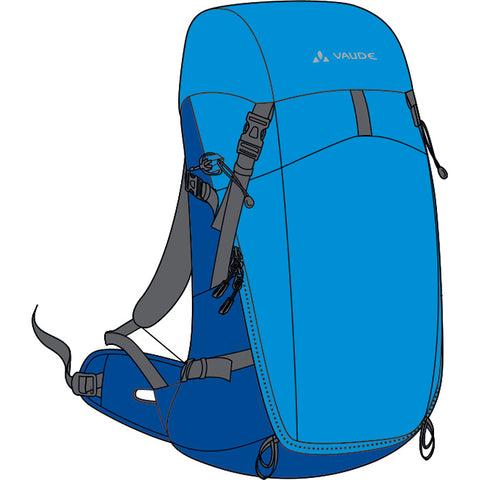 Vaude Brenta 25 Hydro Blue Backpack