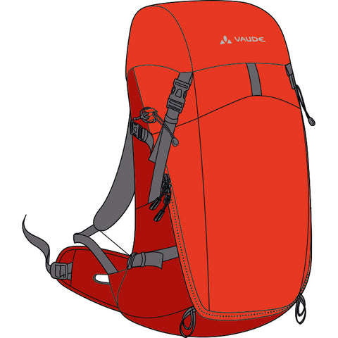 Vaude Brenta 35 Lava Backpack