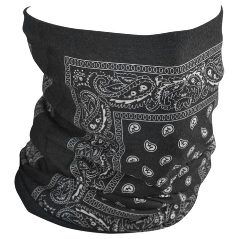 Zanheadgear Motley Fleece Tube Black Paisley