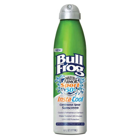Bullfrog Water Armor Instacool Continuous Spray Spf 50+ Sunscreen
