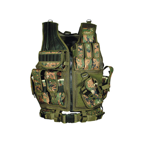 UTG 547 Law Enforcement Tactical Vest Woodland Digital