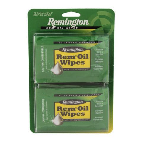 "Remington Accessories Rem Oil Wipes (12 Count)6"" X 8"" wipes 18411"