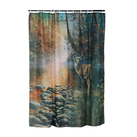River's Edge Products Deer Shower Curtain 755