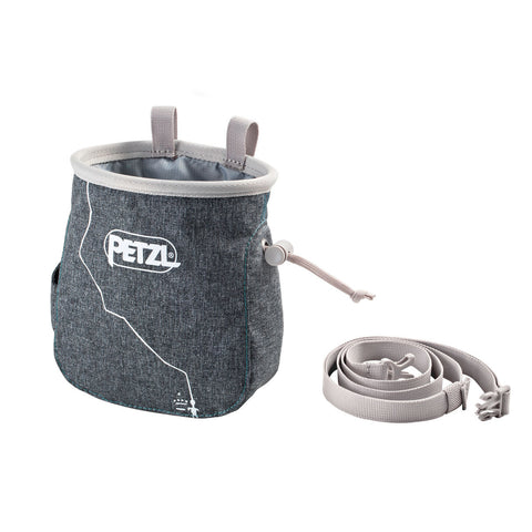 Petzl SAKA Rock Climbing Chalk Bag Grey
